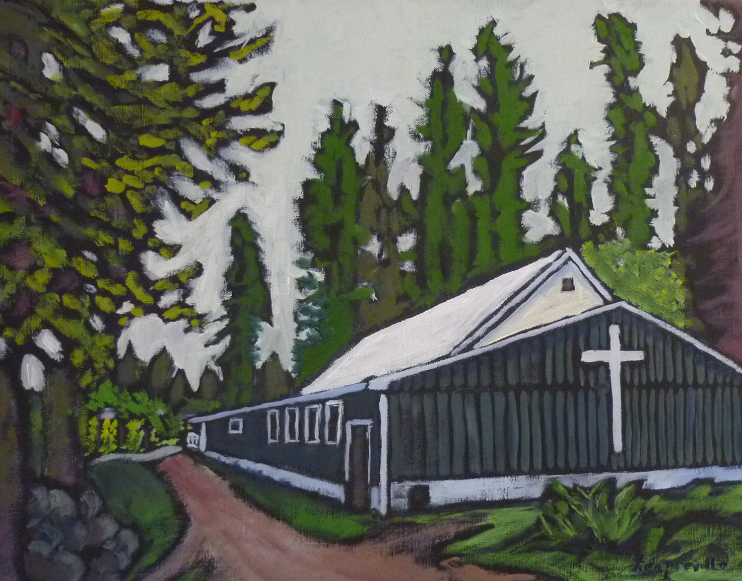 Covenant Church at the Junction, South Slocan, BC by Tea Preville