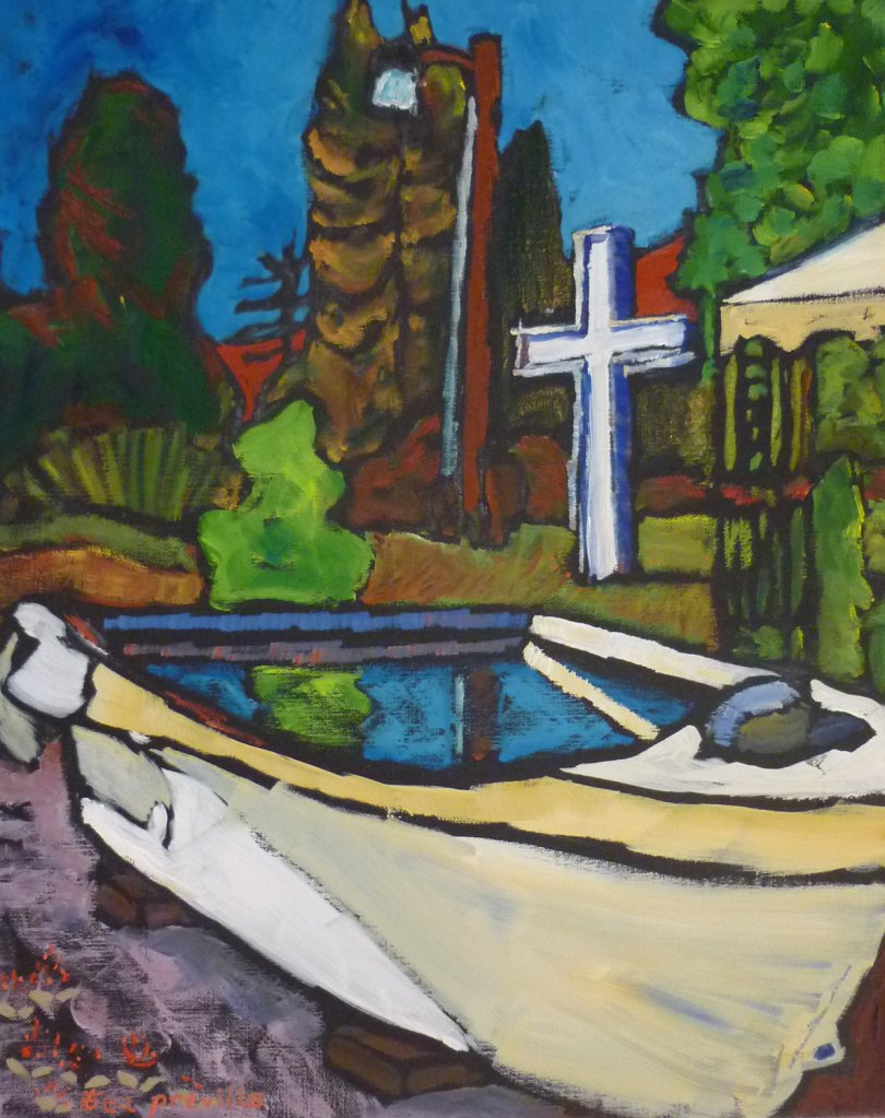 Iris Bakken's Baptismal Boat, Salmo, BC