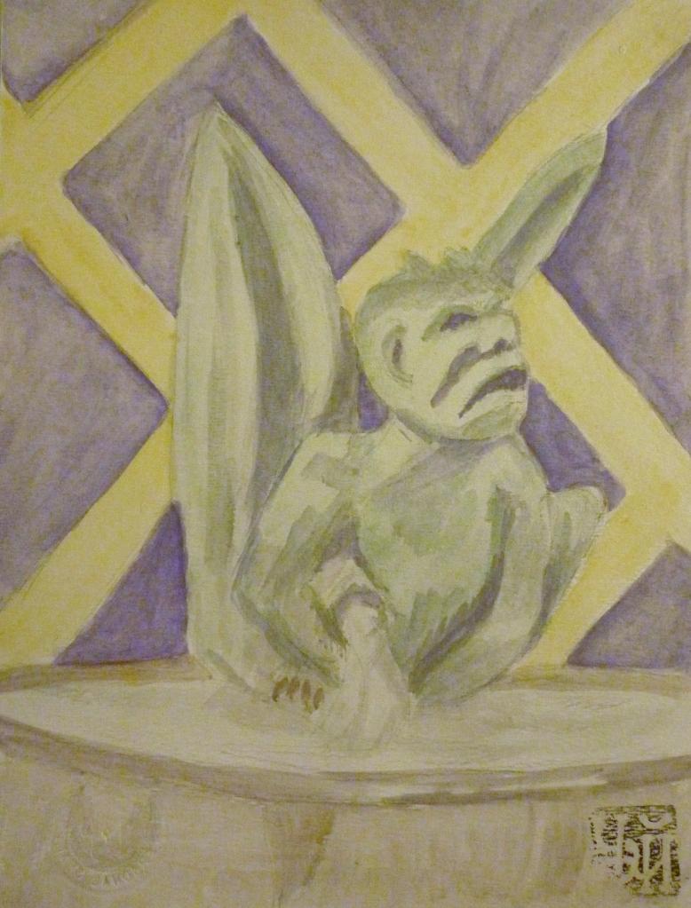 Tea Preville - 1999 - Gargoyle - Watercolour
