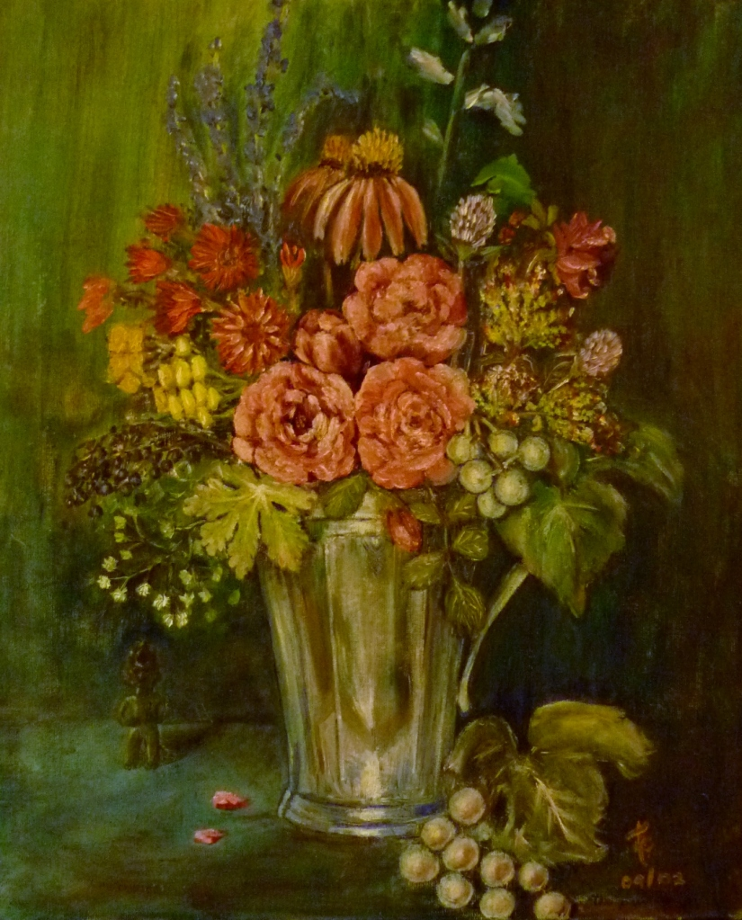 Tea Preville - 2002 - Fall Bouquet - oil