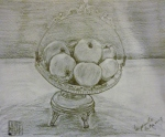 Tea Preville - 2003 -Apples - pencil on paper