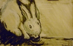 Tea Preville - 2003 - Rabbit III - ink - Deb Peabody-Thompson Workshop
