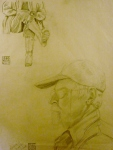 Tea Preville - 2003 - Richard Carver Life I - pencil