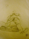 Tea Preville - 2003 - Richard Carver Life III - pencil