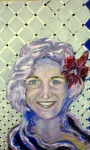 Tea Preville - 2003 - Self-portrait III - acrylic - Deb Thompson Workshop