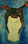 Tea Preville - 2003 - Self-portrait VII - acrylic
