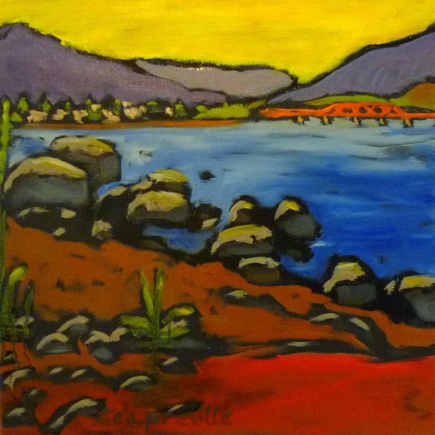 Preville, Tea, Red Sands Beach-oil on canvas, 12x12- 2015