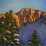 Preville, Tea -Ymir Peak-oil on canvas, 12x12- 2015