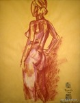 TeaPreville - 2003 -Figure I I - chalk on paper - 17x21