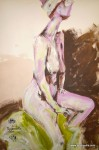 TeaPreville -2003 - Maya I - acrylic wash on paper - 17x21