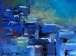 Tea Preville, Blue Abstract, 10x14, 2015