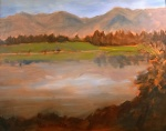Tea Preville, Lake Enid, oil on board, 16x20, 2015