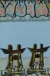 Tea Preville, Mexico 2 , goauche on paper, 2004