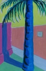 Tea Preville, Mexico , goauche on paper, 2004