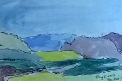 Tea Preville,Vernon 2, watercolour on paper, 2013